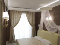 спальня 2, вид на кровать с балдахином