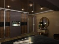 второй вариант шкафа; вечерний вид комнаты
